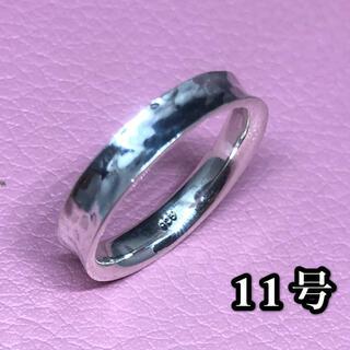 叩き打ち シルバー925リング スターリングシルバー シンプル 銀指輪 ハンマー(リング(指輪))