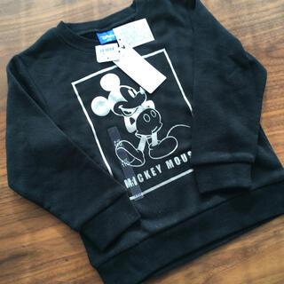 ディズニー(Disney)のミッキー トレーナー 110 ブラック(Tシャツ/カットソー)
