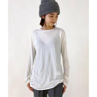 L'Appartement DEUXIEME CLASSE - AP STUDIO 追加 Distortion Tシャツ    ホワイト