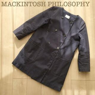 マッキントッシュフィロソフィー(MACKINTOSH PHILOSOPHY)のMACKINTOSH PHILOSOPHY ノーカラートレンチコート38ネイビー(トレンチコート)