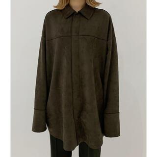 TODAYFUL - ENOF ユニセックス オーバーサイズスウェードシャツ
