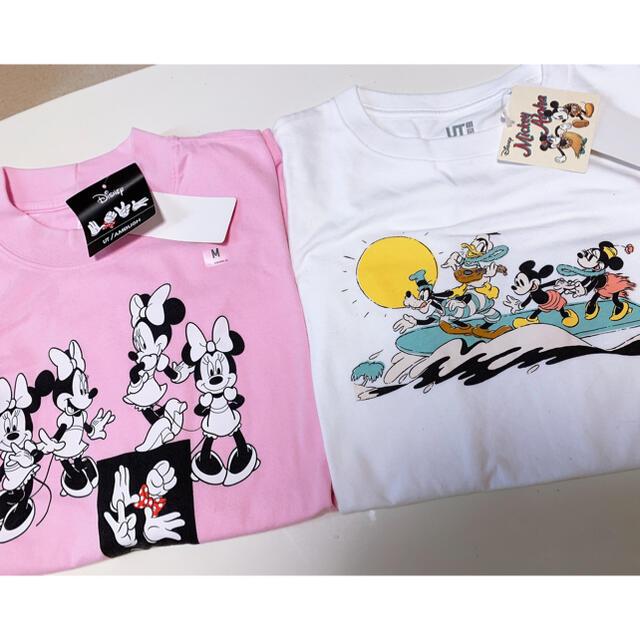 UNIQLO(ユニクロ)のユニクロ Disney Tシャツ 2着 レディースのトップス(Tシャツ(半袖/袖なし))の商品写真