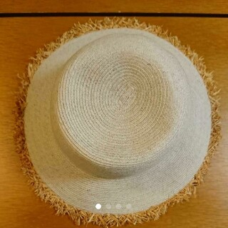 ビューティアンドユースユナイテッドアローズ(BEAUTY&YOUTH UNITED ARROWS)の白麦わら帽子 ユナイテッドアローズ(麦わら帽子/ストローハット)