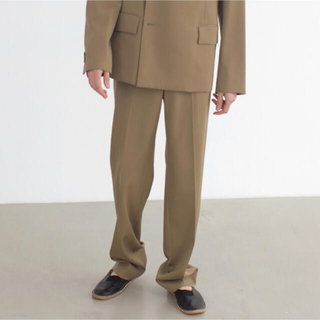COMOLI - auralee light wool max gabardine slacks