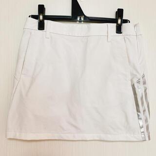 adidas - アディダスゴルフ adidas スカート 白 Sサイズ 滑り止め付き