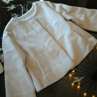 スコットクラブ(SCOT CLUB)の25,000円 ボア コート ジャケット スコットクラブ 新品 オフホワイト(ノーカラージャケット)