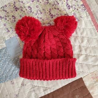ムジルシリョウヒン(MUJI (無印良品))のポンポンニット帽(帽子)