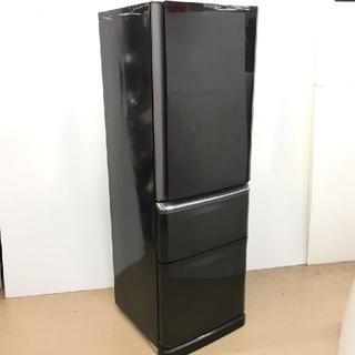 三菱 - 冷蔵庫 人気のブラック 三菱 スリムタイプ ファミリーサイズ
