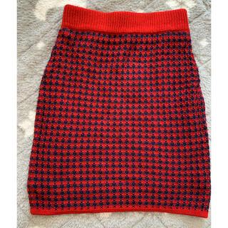 マウジー(moussy)のmoussy ニットスカート FREE(ひざ丈スカート)