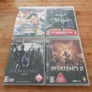 プレイステーション3(PlayStation3)のPS3 バイオハザード6 レジスタンス2 白騎士物語 海賊無双 中古4本セット(家庭用ゲームソフト)
