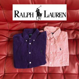 ラルフローレン(Ralph Lauren)の2枚セット★160cm ラルフローレン シャツ ネルシャツ ギンガムチェック  (ブラウス)