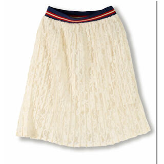 ブランシェス(Branshes)の新品 ブランシェス レースプリーツスカート ホワイト 80センチ 90センチ(その他)
