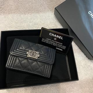 CHANEL - シャネル 三つ折り財布  キャビアスキン