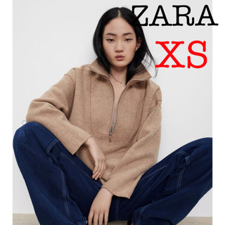 ZARA - ZARA フェイクシアリングトップス 新品 ザラ ニット ZARA パーカー