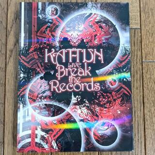 カトゥーン(KAT-TUN)のKAT-TUN LIVE Break the Records(初回盤) DVD(ミュージック)