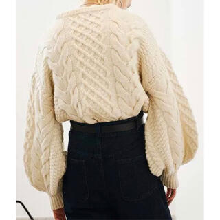 STUDIOUS - 【CLANE】クラネ CABLE PUFF KNIT TOPS