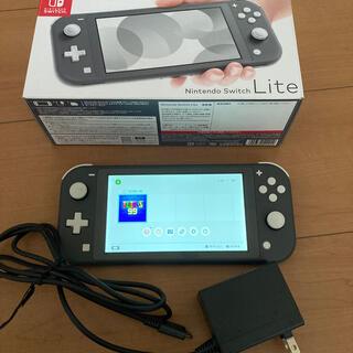 Nintendo Switch -  Nintendo Switch Liteブラック本体 中古品 動作確認済