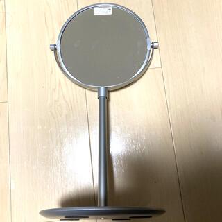 ムジルシリョウヒン(MUJI (無印良品))の無印良品 アルミコンパクトミラー・大(トレー式) 卓上ミラー(卓上ミラー)