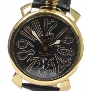ガガミラノ(GaGa MILANO)のガガミラノ マヌアーレ48MM  5011.05S 手巻き メンズ 【中古】(腕時計(アナログ))