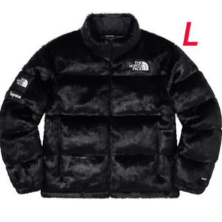 Supreme - Supreme North Face Faux Fur Nuptse 黒Lサイズ