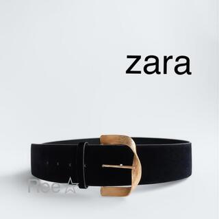 ZARA - zara ベルベットベルト 新品未使用 ザラ ベルト