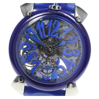 ガガミラノ(GaGa MILANO)の☆良品 ガガミラノ マヌアーレ48 クリスタル 6090.03 メンズ 【中古】(腕時計(アナログ))