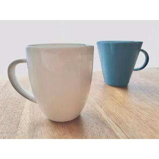 アラビア(ARABIA)のレア アラビア 24h ホワイトマグカップ 旧ロゴ(グラス/カップ)