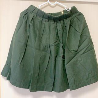 レトロガール(RETRO GIRL)のタックフレアスカート Dグリーン(ひざ丈スカート)