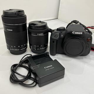 キヤノン(Canon)の309 EOS Kiss X7i ダブルズームキット 充電器付き 綺麗 (デジタル一眼)