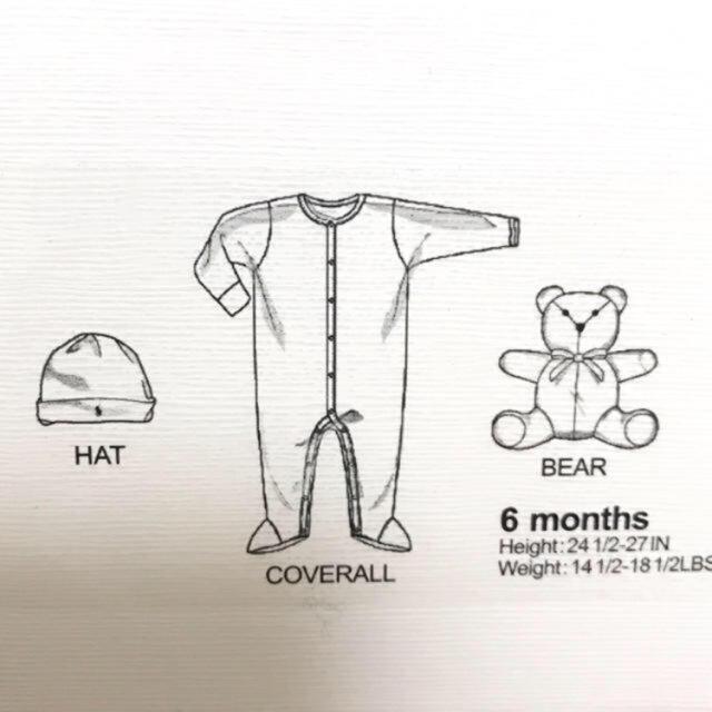 Ralph Lauren(ラルフローレン)の新品 ラルフローレン ギフトボックスセット 白 ベビー baby 赤ちゃん キッズ/ベビー/マタニティのベビー服(~85cm)(ロンパース)の商品写真