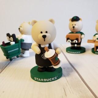 スターバックスコーヒー(Starbucks Coffee)の稀少 スターバックス中国 オンライン限定 べアリスタ コーヒーボット(ぬいぐるみ)