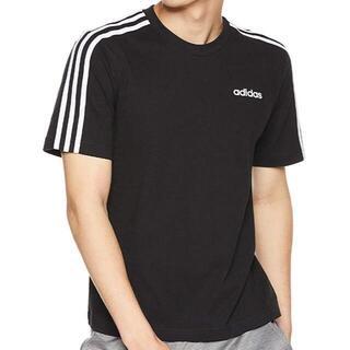 アディダス(adidas)のアディダス 半袖Tシャツ メンズ Mサイズ ブラック 3ストライプス FSG77(Tシャツ/カットソー(半袖/袖なし))
