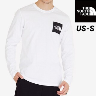 THE NORTH FACE - ノースフェイス ボックスロゴ ロングスリーブTシャツ 海外Sサイズ