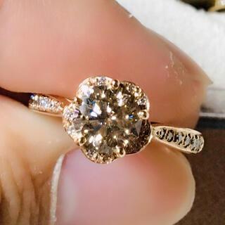 ダイヤモンド サクラカット K18PG リング(リング(指輪))