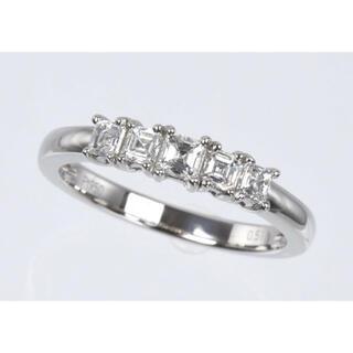 アッシャーカット ダイヤモンド 0.50ct pt950 リング(リング(指輪))