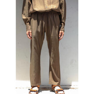 SUNSEA - URU(ウル)/COTTON CUPRA EASY PANTS /Khaki