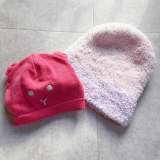 プチバトー(PETIT BATEAU)の【各1回使用】ベビー帽子 カシウェアとプチバトーセット(帽子)