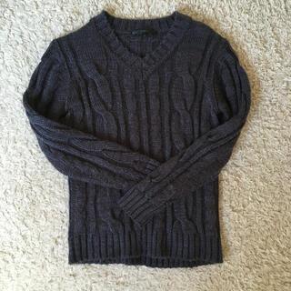 イーブス(YEVS)のYEVS ネイビー アラン模様 ニット セーター Sサイズ メンズ (ニット/セーター)