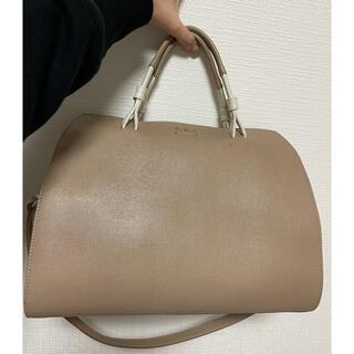 Furla - 美品 フルラ ハンドバッグ ベージュ 通学バッグ 通勤バッグ ショルダーバッグ