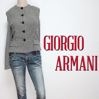 ジョルジオアルマーニ(Giorgio Armani)の極美ライン♪アルマーニ 極上ウール ペプラムジャケット♡バレンシアガ クロエ(ノーカラージャケット)