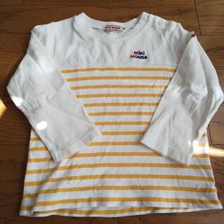 ミキハウス(mikihouse)のミキハウス Tシャツ 90 黄色ボーダー(Tシャツ/カットソー)