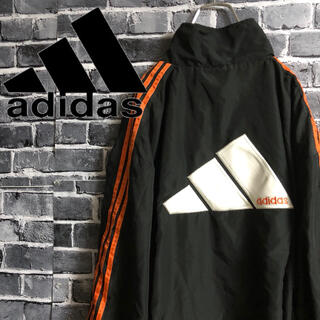 アディダス(adidas)のアディダス 立体ロゴ ナイロンジャケット ジャージ ビッグロゴ(ナイロンジャケット)