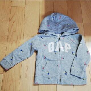 ベビーギャップ(babyGAP)のGAP 花柄パーカー 95(ジャケット/上着)