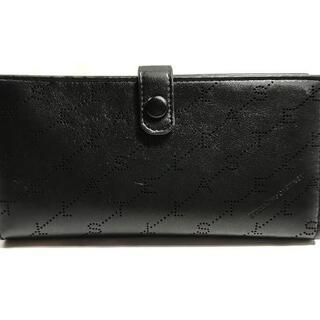 ステラマッカートニー(Stella McCartney)のステラマッカートニー 長財布美品  - 黒(財布)