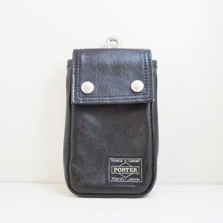 ポーター(PORTER)のポーター 携帯電話ケース - 黒(モバイルケース/カバー)