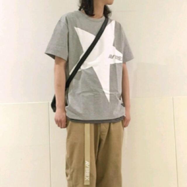 AVIREX(アヴィレックス)の新品★AVIREX ビッグスター Tシャツ グレー/M メンズのトップス(Tシャツ/カットソー(半袖/袖なし))の商品写真