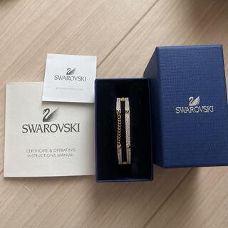 スワロフスキー(SWAROVSKI)のSWAROVSKI イエローゴールド バングル(ブレスレット/バングル)