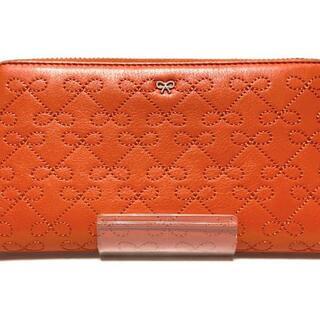 アニヤハインドマーチ(ANYA HINDMARCH)のアニヤハインドマーチ 長財布 - オレンジ(財布)