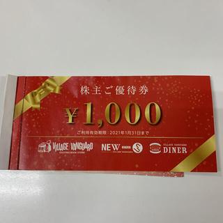 ヴィレッジヴァンガード株主優待券 5枚(ショッピング)