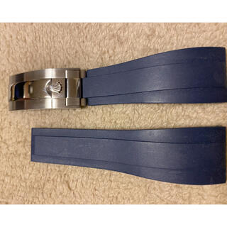 時計ラバーベルト 対応ロレックス 汎用交換用ベルト Dバックル 20mm(ラバーベルト)